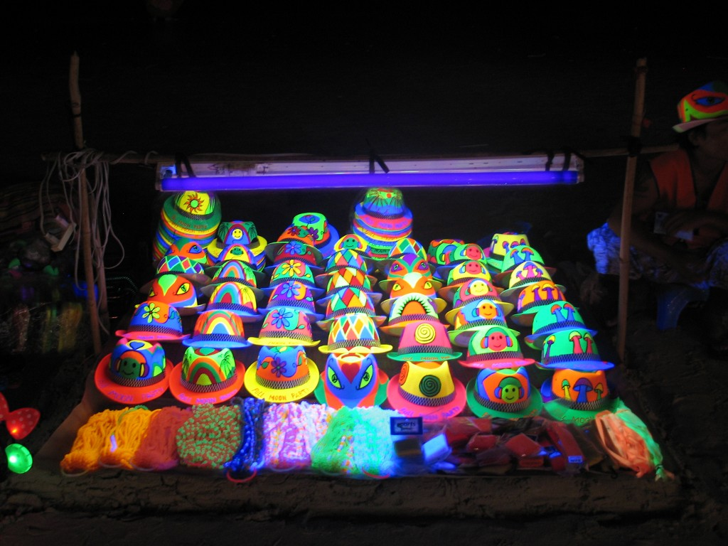 Full Moon Party day-glow hats