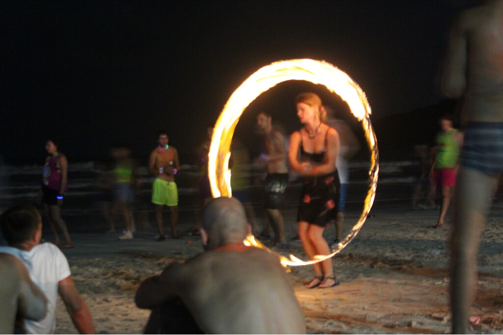 Fire staff at the Full Moon Party