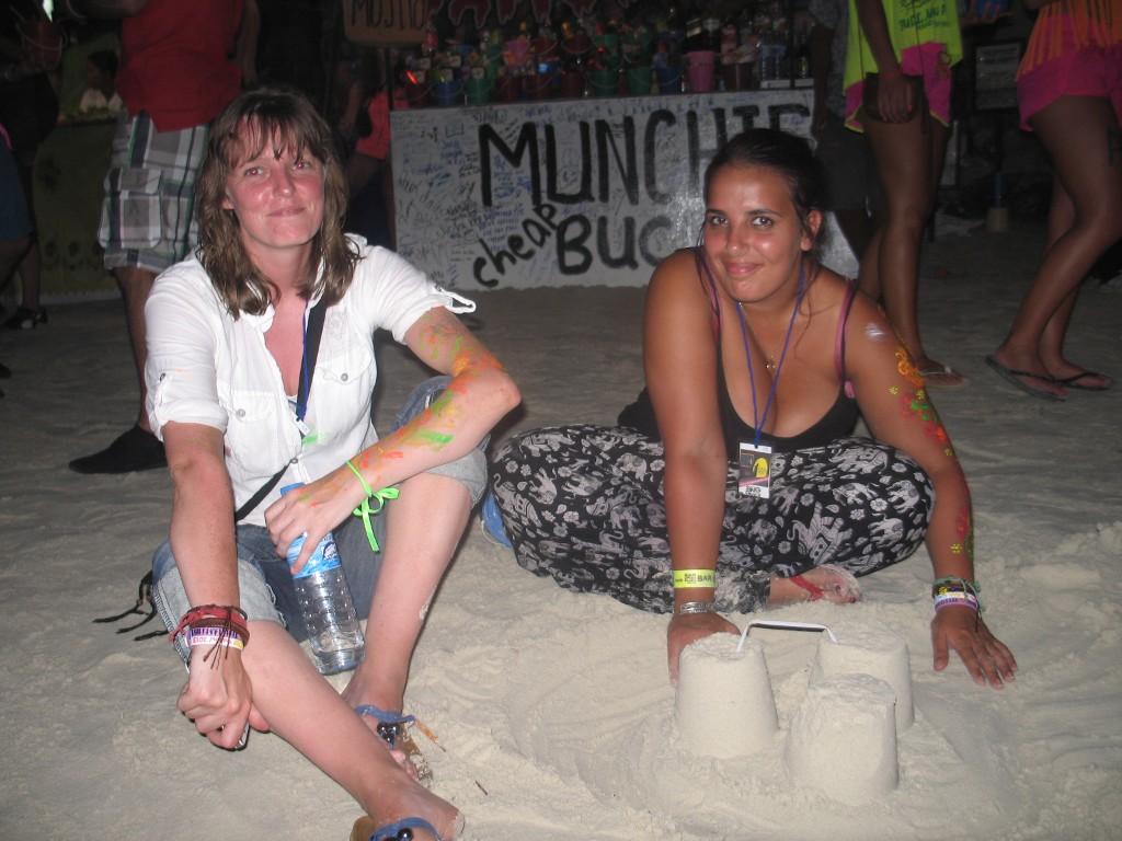 Sandcastles using Full Moon Party Buckets