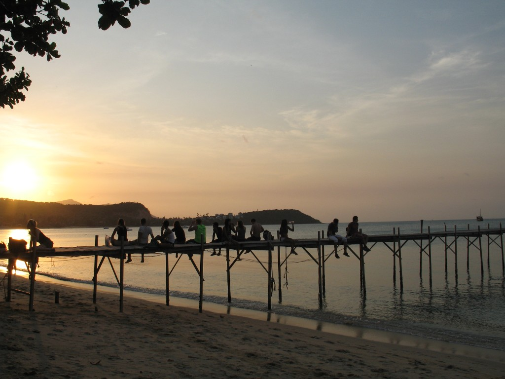 Sunset at Petcharat Pier, Koh Samui