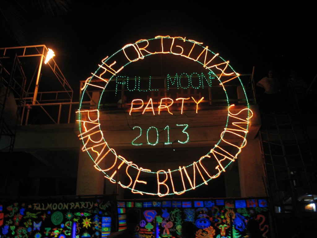 The Full Moon Party Neon Beach Sign