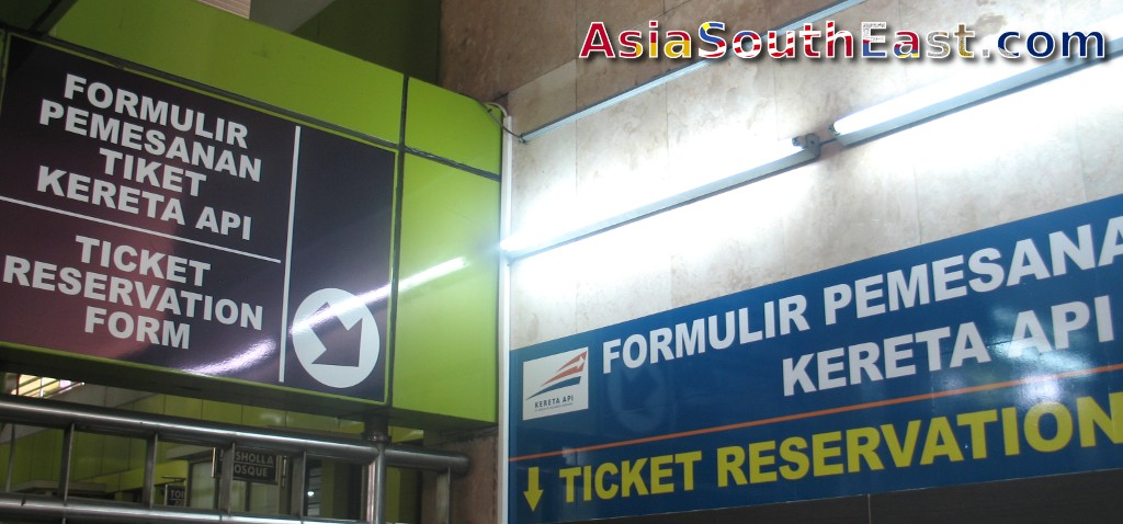 Forms to complete before booking a ticket at Jakarta Gambir train station, Jakarta, Java, Indonesia