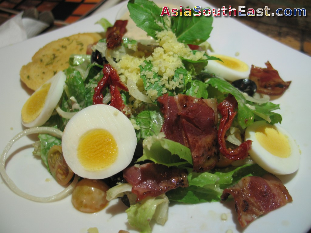 Ceasar Salad at ViaVia Cafe and Restaurant in Yogyakarta, Java, Indonesia
