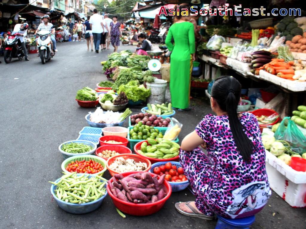 freshness of Vietnamese cuisine and local markets, ho chi minh city, vientam