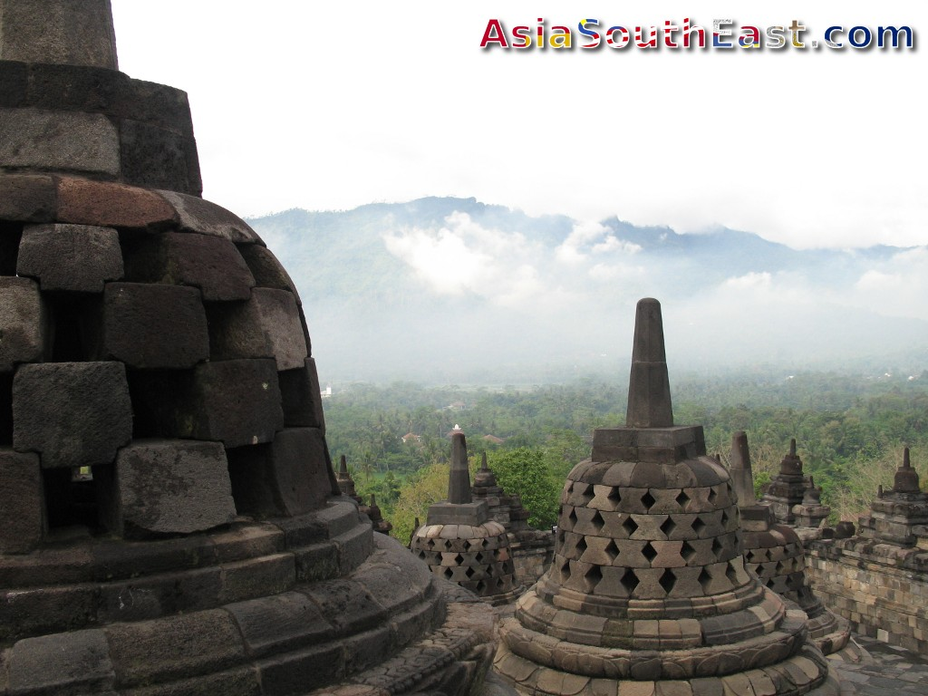 Borobudur, Mahayana Buddhist Temple in Central Java, Indonesia